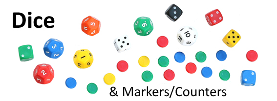 Dice and counters