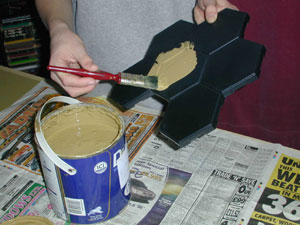 Painting the boards using household emulsion