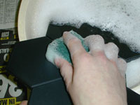 Wash the boards in warm soapy water