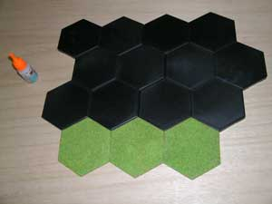 Slope Hexes flocked and ready for use