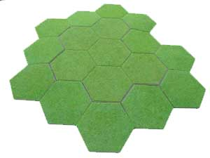 18 Hex hill made from Single Hexon Board and single slope hexes