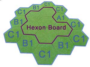 12 hex hill using Slopes and Hexon boards