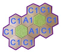 12 hex hill using slopes and single hexes